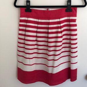 Banana Republic Pink and White Linen Skirt